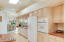 Kitchen has a walk in pantry