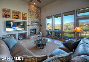 FAMILY ROOM - NEW FLOORING AND STONE STACK FIREPLACE