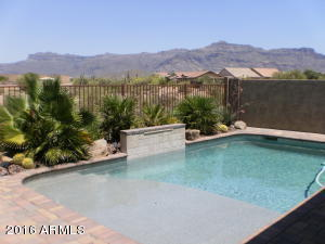 Spectacular unobstructed Superstition Mountain Views from backyard. Beautiful newer private heated pebble tech pool. Awesome yard with pavers, and lots of room for patio furniture, relaxation, and enjoying those endless views!