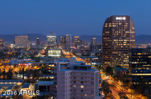 Downtown city lights - the best penthouse views in Phoenix.