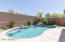 Refreshing private pool with in-floor cleaning system.