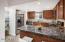 Granite countertops with walk in pantry