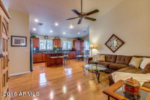 Family room open to kitchen!