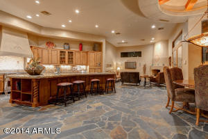 Spacious Kitchen with Breakfast nook & Family room with fireplace.