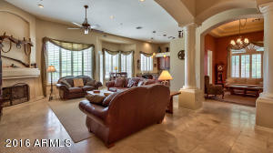 Great room view toward formal dining or sitting area