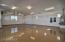 Epoxy on floor for easy clean up, breaker panels, fire sprinkler panel, gas water heater & water softner loop
