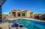 3 Tiered Pot Water feature dumps right into pool. Baja Lounge area in pool.