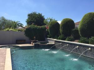 Custom pool and spa.