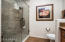 Wonderful large walk in shower with glass enclosure!
