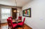 Enjoy entertaining in this dining room
