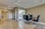 Travertine flooring throughout the main floor