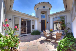 Enchanting Santa Barbara style with rotunda entry.