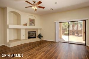Great Room with Wide-Plank Flooring and Patio Views!