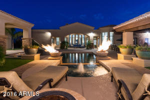 Relax in Private Backyard with Fire Features, Pool, Spa, Fire Pit,