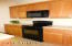 Black Flat Surface Cooktop, Built-in Microwave
