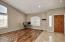 High ceilings throughout- open and bright