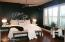 Master Bedroom with built in headboard