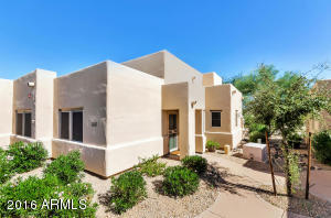 This unit is located at the east end of the complex and is very private. Backs to the desert arroyo that has a walking/biking trail.