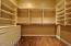wood floors built in shelving & drawers