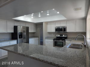 Awesome kitchen with new cabinets, granite counters, stainless steel appliances