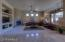 Light bright and open floor plan. Beautiful travertine floors