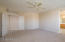 Spacious master with double door entry and is split from secondary bedrooms.