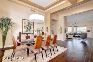 Gorgeous entrance and dining area.