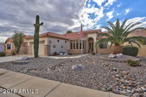 This highly desired 1932sf Tapatio is located in the gated active adult resort community of Arizona Traditions.
