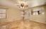 Travertine flooring throughout main living area