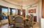 Custom Mahagony Built-in Buffet Hutch & Wine Room close at hand.