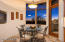 Casual dining in kitchen with views