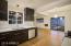 Sleek, remodeled Euro-style high-design kitchen.