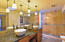 HIS & HER SINKS, NEW GRANITE COUNTERS, FIXTURES, CABINETS, SINKS & SHOWER