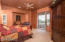Master Suite with full bath, walk-in closet and pool/spa access