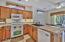Newer refrigerator, microwave, dishwasher, oven, garbage disposal