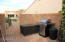 BBQ AND STORAGE UNIT STAYS AND MANY CLEANING ACCESSORIES IN STORAGE UNIT