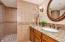 Main level bath with custom walk in shower