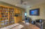 DEN W/ BUILT-IN CABINETRY & SHELVING