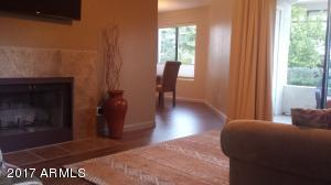 Very open and bright living space from the living room to kitchen dining area.