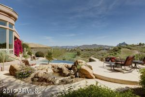 Sitting on one of the upper patios , one can enjoy the golf course and views to the Superstition & Usary Mountains in the distance.