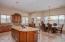 Open floor plan kitchen to dining room