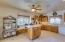 Island goes to where it's needed in spacious, bright kitchen