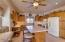Alder cabinets lit above and below for adjustable ambience