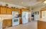 Cook up a storm with counter and cabinet space galore
