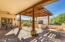 Inviting patio with view towards the 1300sf workshop!
