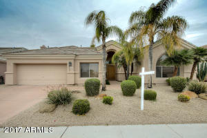Well maintained and low maintenance front yard.