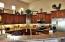 Large, open kitchen, beautiful cabinets & granite counters