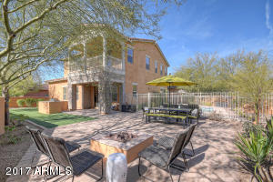 Gorgeous home situated on over 9900 SqFt corner lot in the award-winning community of DC Ranch