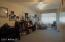 Main floor Man cave would make a great hobby/sewing/craft room!