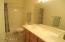 Guest bath with double vanity and tub/shower